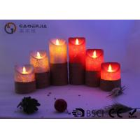 China Remote Control Flickering Led Candles , Led Flameless Candles With Timer on sale