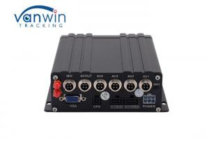 China CMS Platform 9~32V H265 4CH Dual SD Card MDVR With USB Mouse on sale