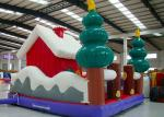 Merry Christmas New Inflatable Santa Claus Bouncer House For Kids Playground