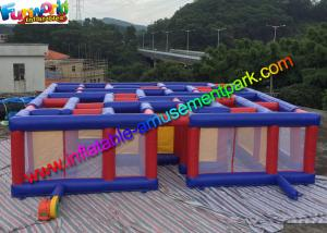 China Funny Inflatable Air Maze , Mega Inflatable Maze Sport Games for Adults & Childrens on sale