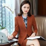 Long-Sleeved Slim Fit Women's Suit Autumn Winter Trousers Suit Business Workwear Suit