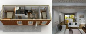 China 40ft& 20ft Luxury Flat Packet Mobile Office Containers Modular Livable House Villa on sale