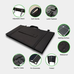 China MC4 28v 48 Cells 160W Foldable Solar Panel 27.8V Vmp With Self Cleaning Function on sale