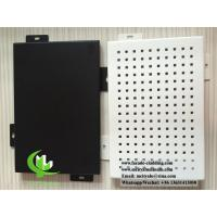 Formed aluminum panel for facade cladding weatherproof powder coated