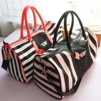 Victoria's Secret Travel Bags Large Capacity Duffle Bag for clothes and shoes storage pink replica