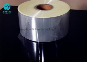 China Self Adhesive Transparent PVC Rolls Flexible Packaging Film With Inside Paper Core 76mm on sale