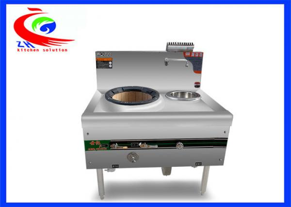 Chinese Cooking Equipment Gas Cookers Commercial Gas Cooking Stoves 1  Burners 1 Spare Water Pot With Cabinet Images