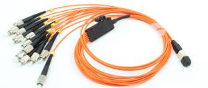 Quality Orange 24 fibers MPO MTP mode conditioning patch cord cable assemblies for sale