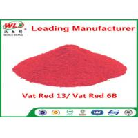 Alkali Resistance Permanent Fabric Dye C I Vat Red 13 Vat Red 6B Dyestuffs