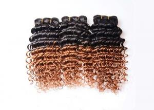 China Ombre Virgin Brazilian Hair Deep Wave Two Tone Ombre Hair Extensions 1b/30 on sale