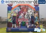 China Monster High Theme Inflatable Jumping Castle 0.55mm PVC Tarpaulin EN-14960 wholesale