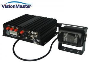 China 4 Pin Square Molex Connector Dual Car DVR , 3G / Wifi Black 12 Volt Mobile DVR on sale