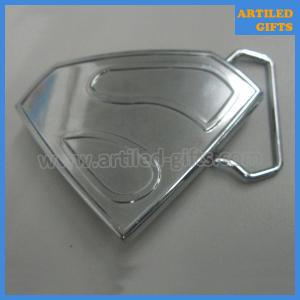 China Die casting zinc alloy metal superman belt buckle for mens and boys on sale