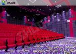 la salle de cinéma 3D pose les chaises rouges de salle de cinéma de vibration saine pour l'amusement