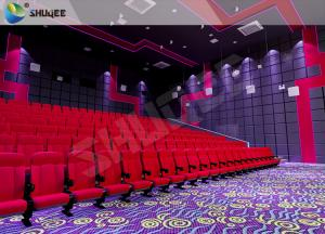China Vibration Effect Movie Theater Seats SV Cinema Red 120 People Movie Theatre Seats on sale