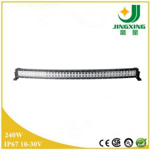 China NEW Epistar 240W Dual Row Curved Offroad Automotive Car LED Light Bar 4x4 for Trucks IP68 on sale