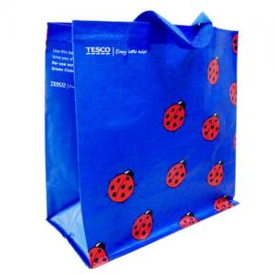 China Woven Polypropylene Tote Bags for Supermarket , Blue Custom Printed Totes on sale