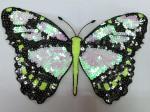 La mariposa del bordado de la lentejuela de la tela Appliques la malla para el diverso vestido