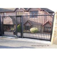 Home Garden Automatic Driveway Gates Pedestrian Swing Gate with Steel Fence Design