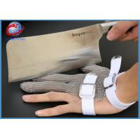 Three Fingers Protection Stainless Steel Hand Safety Work Gloves Anti Garments Cutting