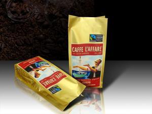 China Односторонние дегазируя сумки кофе упаковывая, сумка кофе бортового Гуссет пластиковая on sale