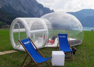 China Outdoor Single Tunnel Inflatable Bubble Tent Camping Family Stargazing For Rent on sale