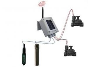 China Solar Panel Wireless Irrigation System 2 Station Latching / Field Valve Controller on sale