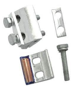China Parallel groove clamp AL16 - 150, PG series strain clamp for fixing aluminium wire on sale