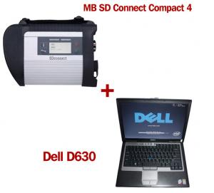 China Wireless MB SD C4 Mercedes Benz Diagnostic Tool With Dell D630 Laptop Ready to Use on sale