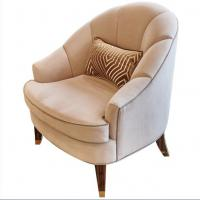 Fabric Upholstery Living Room Couches , Wooden Hotel Lounge Chair High End