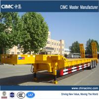 tri-axle 80 tons low bed trailer
