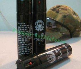 Quality 60ML Injector Tear gas black police Pepper Spray for sale