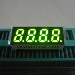China 0.32 Inch Green Four Digit 7 Segment Led Display Temperature Humidity Indicator on sale