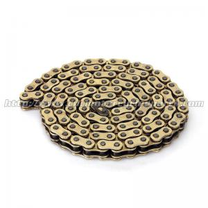 China Dirt Bike Parts Copper-plated Motorcycle Chain Yamaha YZ 250F WR 450F MN Gold on sale