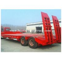 2 Axles Low Flatbed Semi Trailer Lowbed Truck Trailer Type 30 to 60 Tons Capacity