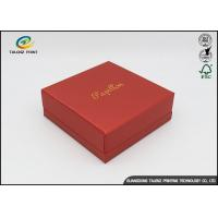 Environmental Red Printing Cardboard Gift Boxes With Hot Stamping Surface Dispoal