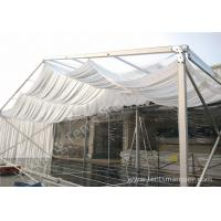 Outdoor Wine Parties / Wedding Decoration Tent 15m With Wood Floor