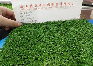China Green Realistic Artificial Grass , Artificial Synthetic Grass For Greening / Sports on sale
