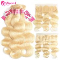 China Brazilian 613 Blonde Virgin Hair Lace Frontal Body Wave 13×4 Inches Unprocessed on sale