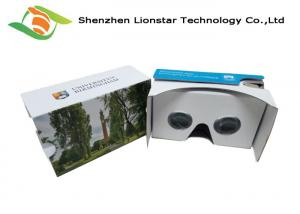 China Google Cardboard 3D MoviesVR Box , Virtual Reality Cardboard Compatible Headsets on sale