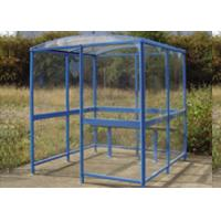 China 33mm Aluminium Square Tubing for Smoking Shelter with Max of 3 Person Blue Painting 6063 T5 on sale