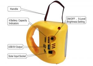 China Portable Solar Powered Lights 190*140*152 Polycrystalline High Conversion Rate on sale