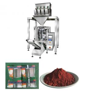 China Vetical Iron Oxide Powder Packaging Machine With 4 Heads And Vacuum Feeder on sale