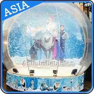 China CE Approval X - Mas Christmas Inflatable Snow Globe For Photo Taking on sale