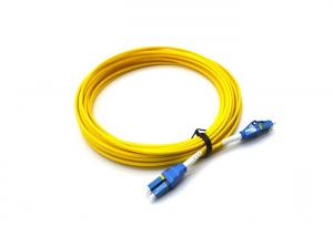 China PVC 3.0mm Fiber Optic Patch Cord LC UPC To LC UPC Uniboot Duplex OS2 Single Mode on sale
