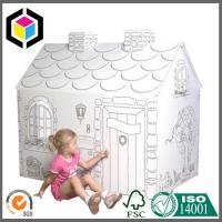 China 100% Recyclable Material Color Print Corrugated Cardboard Playhouse For Kids on sale
