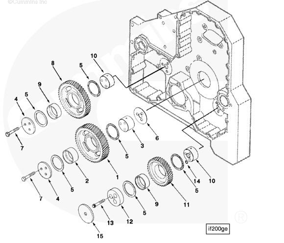 8 3084448 Gear Idler Cummins Engine Parts For Sale