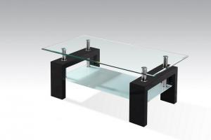 China Glass Coffee Table with MDF Legs, Hot-sale Tea Table on sale
