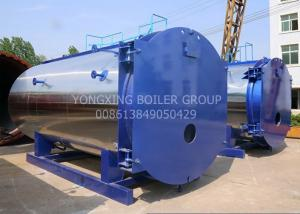 China LDO 1500kgs/Hr Oil Fired Steam Boiler Efficiency 1.25kg/Cm2g Horizontal Natural Gas Boiler on sale
