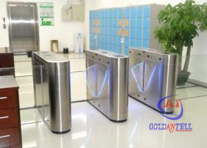 China Smart flap barrier turnstile single or bi-directional optional for station airport on sale